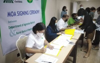 MOA SIGNING WITH RURAL BANK OF MEDINA FOR THE PRODUCTION CAPITALIZATION FUND(PCF)